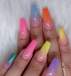 30 Casual Acrylic Nail Art Designs Ideas to Fascinate Your Admirers . - 30 casual acrylic nail art designs ideas to fascinate your admirers – – - Summer Acrylic Nails, Best Acrylic Nails, Cute Acrylic Nails, Colored Acrylic Nails, Cute Acrylic Nail Designs, Nail Art Designs, Colorful Nail Designs, Acrylic Nail Designs Coffin, Coffin Nails Designs Summer