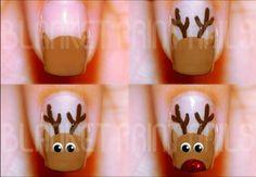 Reindeer nail art tutorial