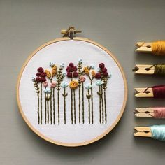 6 Lovely Hand Embroidery Kits  CityCraft Autumn Wildflowers Hand Embroidery Sample by And Different Adventures  handembroidery embroidery embroiderypattern stitching