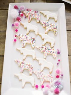 Unicorn cookies: http://www.stylemepretty.com/living/2015/03/15/whimsical-unicorn-baby-shower/ | Photography: Kristen Kilpatrick - http://www.kristenkilpatrick.com/
