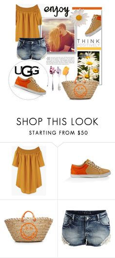 """""""Play With Prints In UGG: Contest Entry"""" by theworldisatourfeet ❤ liked on Polyvore featuring MANGO, UGG Australia, Anya Hindmarch, VILA and thisisugg"""