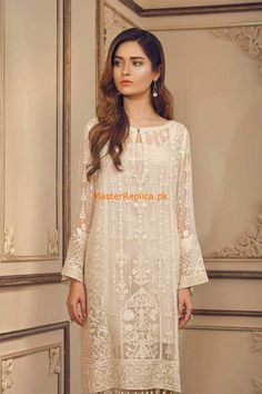 Shop Stitched Orignal Pakistani Designer Latest Embroidered Chiffon Salwar Suit Collection at PinkPhulkari California. Ready to ship from California. Buy in USA! Pakistani Bridal Wear, Pakistani Dress Design, Pakistani Outfits, Indian Outfits, Kurti Designs Party Wear, Kurta Designs, Simple Dresses, Casual Dresses, Girls Dresses