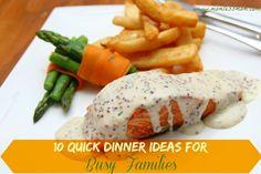 10 Quick Dinner Ideas for Busy Families #dinnerideas #busyfamilies