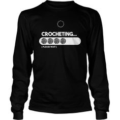 CROCHETING LOADING T SHIRT