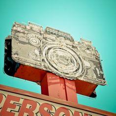 Neon Sign Vintage Retro Roadside Oklahoma City Fine by DDubPhotog