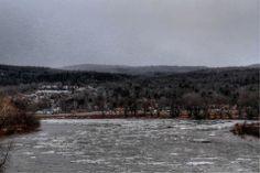 An icy Susquehanna - Endicott, NY