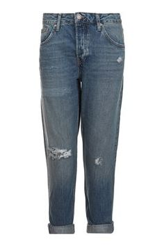 Topshop Petite Dirty Rip Hayden Jeans (460 SEK) ❤ liked on ...