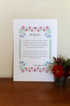 Personalised Floral Ditsy Wedding Vows Reading Poem by KitchCards, £15.00