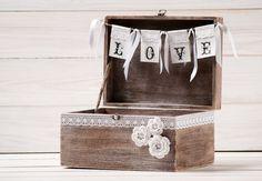 Shabby Chic Wedding Card Box Wishes Money Holder Envelope Reception Rustic Advice Wish Box Wedding Bridal Shower Gift Recipe Box Burlap Lace on Etsy, $79.78