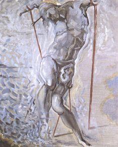 Salvador Dali - Saint Sebastian, 1982. Oil on canvas, 74.5cm x 60cm. Fundacion Gala-Salvador Dali, Spain