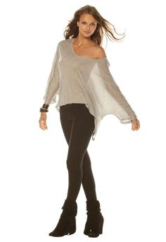 Alexis Dayane Flared Long Sleeve Poncho Top in many colors