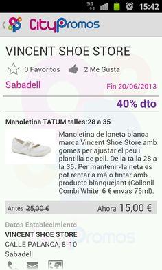 Vincent Shoe Store Sabadell - oferta en Citypromos