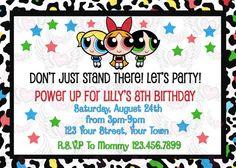 PowerPuff Girls Power Puff Girl Birthday Invitation - $15