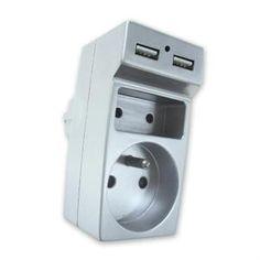 Biplite 2 prises 6A + 16A avec 2 chargeurs USB Chrome - Achat / Vente multiprise - Cdiscount