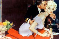 J Frederick Smith, Romance Art. Romance Art, Vintage Romance, Vintage Art, True Romance, Caricatures, Frederick Smith, Magazine Illustration, Pulp Art, Pulp Fiction Art