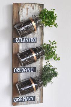 Mason Jar #HerbGarden via Camille Styles