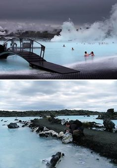 Fascinating Hot Springs on Earth The Blue Lagoon geothermal spa is one of the largest attractions in Iceland.The Blue Lagoon geothermal spa is one of the largest attractions in Iceland. Vacation Destinations, Dream Vacations, Vacation Spots, Places To Travel, Places To See, Places Around The World, Around The Worlds, Voyager C'est Vivre, Spa