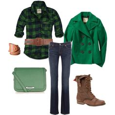 """""""Green with Comfy"""" by heather-rolin on Polyvore"""