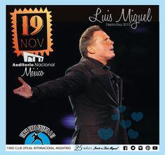 Luis Miguel -19 de Noviembre en Auditorio Nacional - MEXICO - DEJAVUTOUR- 2015-  Tengo Todo Excepto a Ti, fans club oficial internacional Argentino-  Desde 1990 Junto a Luis Miguel Seguinos en todas nuestras redes sociales: FACEBOOK:  https://www.facebook.com/pages/Tengo-Todo-Excepto-A-Ti/595464773913653 TWITTER: @tengotodoclub - INSTAGRAM: @Tengotodocluboficial -