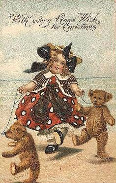 This is the Post Card I use to represent me { Maggie2Bears } my nick name. I Wish all my friends a wonderful Christmas !