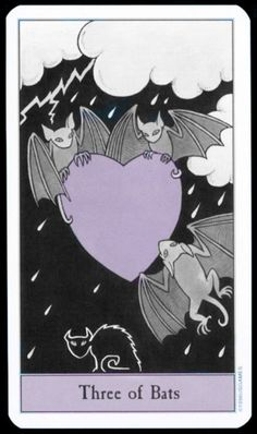 I think from this is from the Halloween Tarot.