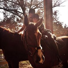 Pin for Later: 33 Snaps That Prove Ian and Nikki Are So in Love  Ian and Nikki coupled up during a horse-riding session in Georgia in 2014.