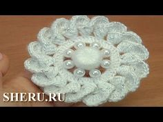Crochet Spiral Petal Flower Tutorial 56 Как вязать цветок крючком - YouTube