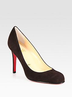 Christian Louboutin Simple 100 Suede Pumps
