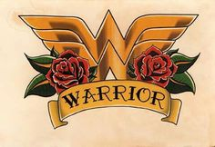 Wonder Woman Crest Roses and Banner Tattoo Flash Art- Hand Stained Print Women tattoo – Fashion Tattoos Wonder Woman Art, Wonder Woman Kunst, Wonder Women, Wonder Woman Logo, Flash Art Tattoos, Body Art Tattoos, Tatoos, Tribal Tattoos, Game Tattoos