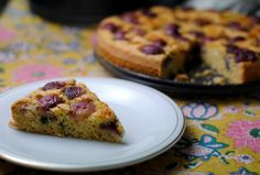 Red Grape Cake with Olive OIl