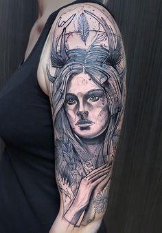 Schwein Elschwino tattoo Scribble, Tatting, Black And Grey, Sketch Drawing, Tattoo Ink, Portrait, Drawings, Instagram Posts, German