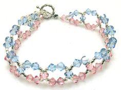 Pink/Blue Awareness Swarovski Crystal by EledesignbyLauren on Etsy, $23.50