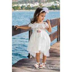 Βαπτιστικό Ρούχο Stova Bambini SS19-G01 Girls Dresses, Flower Girl Dresses, Wedding Dresses, Fashion, Bridal Dresses, Moda, Dresses For Girls, Bridal Gowns, Wedding Dressses