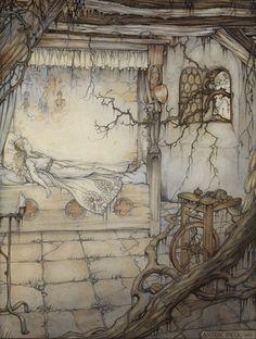 Grimm - Sleeping Beauty by Anton Pieck
