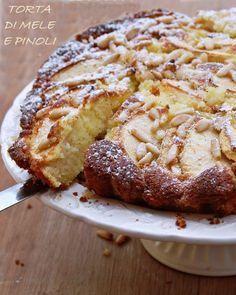 Torta di mele e pinoli soffice | Mamma Papera