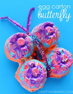 Butterfly crafts for kids. butterfly crafts for kids egg carton Kids Crafts, Recycled Crafts Kids, Recycled Art Projects, Spring Crafts For Kids, Daycare Crafts, Summer Crafts, Toddler Crafts, Preschool Crafts, Art For Kids