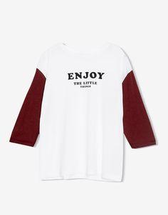 Printed t-shirt - T-shirts - Clothing - Woman - PULL&BEAR Taiwan