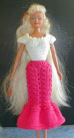 Barbie Crochet: Barbie Dress Free Pattern