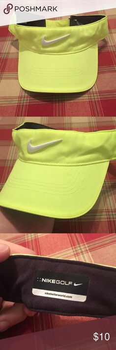 Neon Green Nike Visor Nice Nike visor, in good condition. Worn only a handful of times on spring break. Nike Accessories Hats