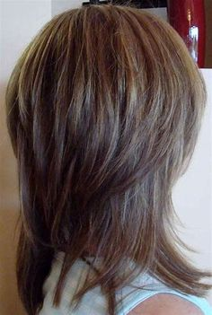 Image result for Layered Shag Haircut Back View