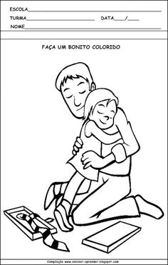 Atividades para imprimir para o dia dos pais                              … Fallout Vault, Boys, Fictional Characters, Schoolgirl, School, Tips, Countries, Domingo, Baby Boys