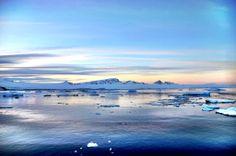Icy Sunset in Antarctica