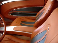Speedstar - Street Seats - Custom Street Rod Interiors peanut butter brown grey silver interior door panels