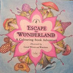 "Done! ☺ ""Escape to Wonderland"" a coloring-book illustrated by Good Wives and Warriors ••••••••••••••••••••••••••••••••••••••••••••••••••••• #escapetowonderland #aliceinwonderland #adultcoloringbook #coloringbook #coloringforadults #coloringforgrownups  #derwentwatercolour #derwentartists #derwentcolorsoft #tilacolorstagram"