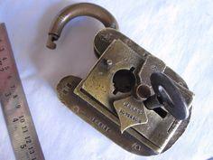 Brass Seal Padlock, HOBBS & Co. LONDON
