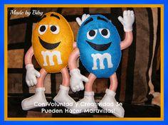 ARTE COM QUIANE - Paps,Moldes,E.V.A,Feltro,Costuras,Fofuchas 3D: Molde Chocolate Boneco M&M de feltro