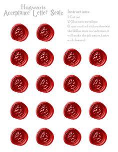 Hogwarts Acceptance Letter Seals – Free Download | PropPrintables