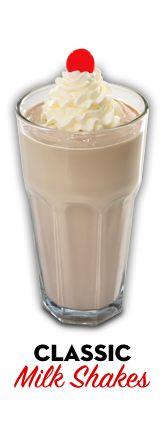 Chocolate milk shakes from Steak 'n Shake