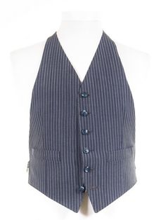 Ex-Hire Backless Wedding & Morning Suit Waistcoats - Navy Blue - ALL SIZES