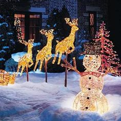Decorating Big Front Yard Landscaping Ideas Christmas Outdoor Decoration Walmart Christmas Tree Decorations 339x339 Lighted Outdoor Christmas Decorations Front Yard Landscape Design Photos